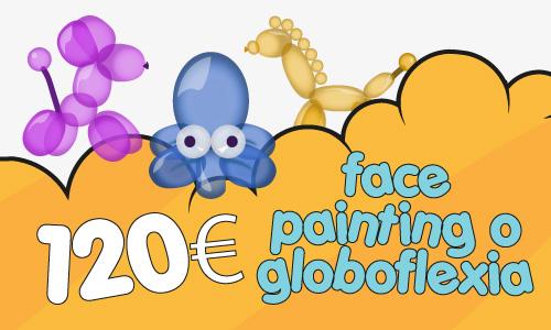 Pintura de caras y globoflexia para fiestas y cumpleaños